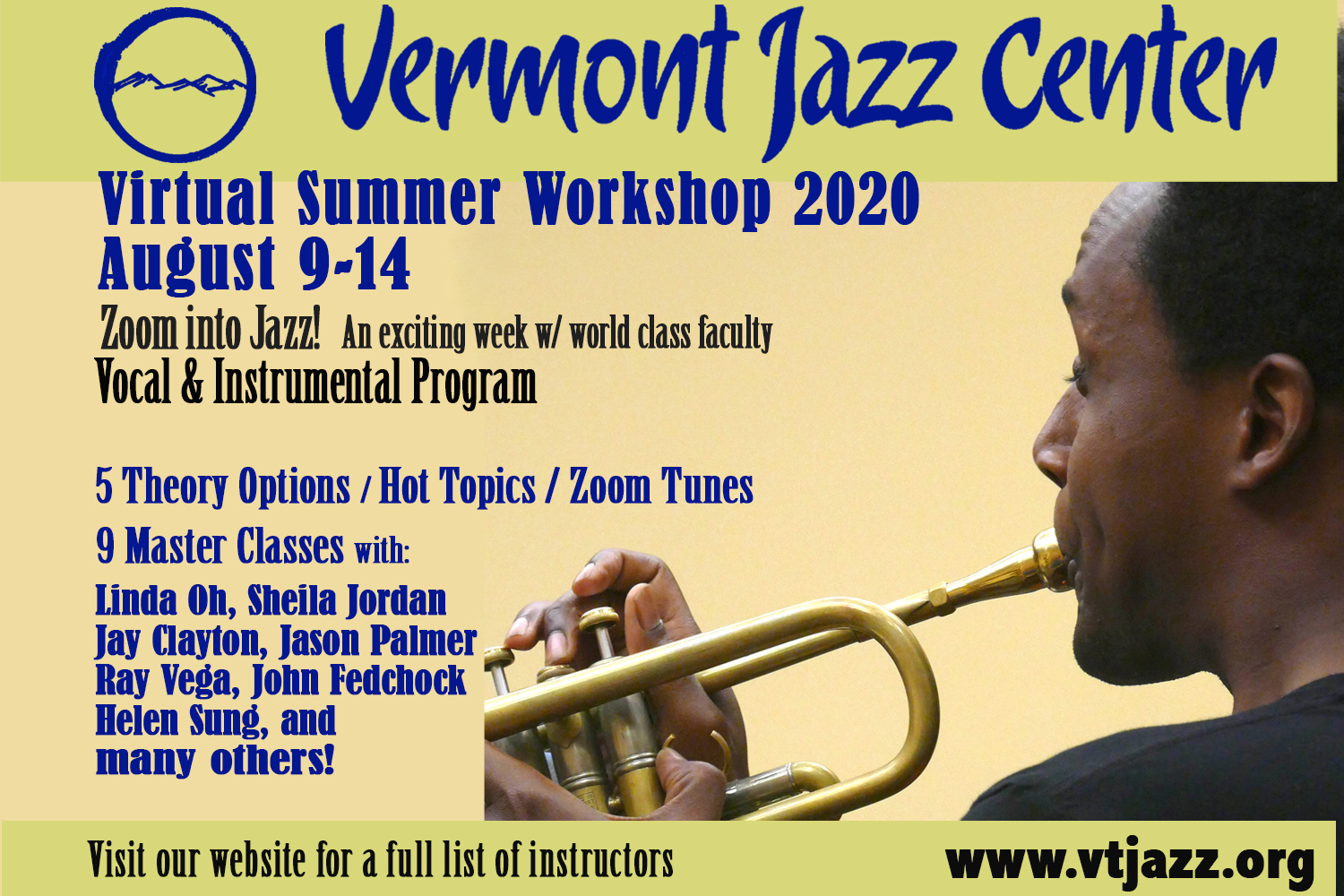 Vermont Jazz Center Summer Workshop 2020