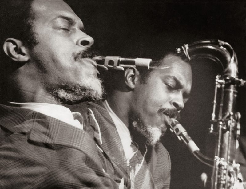 Albert Ayler—whose playing turned ESP-DISK' into a jazz label—in 1965 (photo: Sandra Stollman)