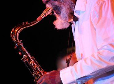 Pharoah Sanders at the 2020 Detroit Jazz Festival