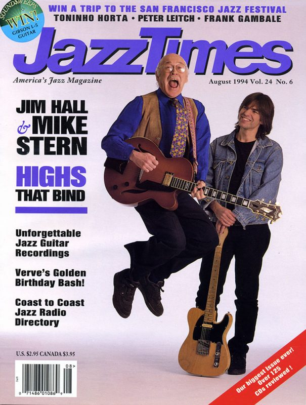 The cover of the July/August 1994 issue of JazzTimes.