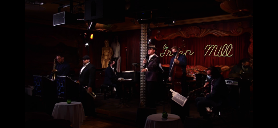 """Kurt Elling performing with his band at the Green Mill for stream of """"The Big Blind."""""""