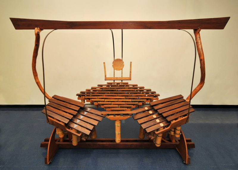 The Quadrangularis Reversum, photographed at the Harry Partch Institute at Montclair State University in 2014. (photo: HorsePunchKid)