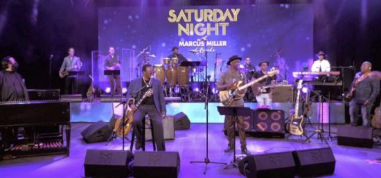 Joey DeFrancesco and George Benson performing with Marcus Miller and his band for Saturday Night with Marcus Miller & Friends