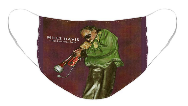 Miles Davis mask by Enid Farber