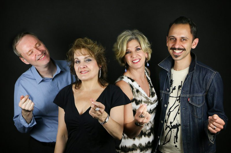 The Royal Bopsters from left: Pete McGuinness, Amy London, the late Holli Ross, and Dylan Pramuk (Janis Wilkins)