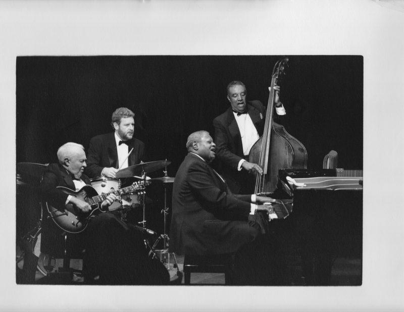 Herb Ellis, Oscar Peterson, Jeff Hamilton, and Ray Brown
