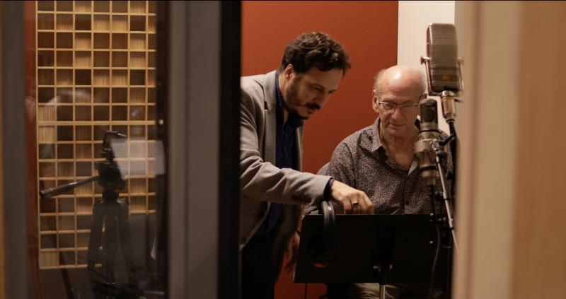 Mehmet Ali Sanlikol and Dave Liebman in the studio