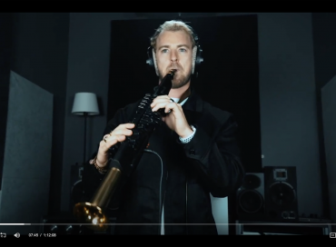 Jørgen Lund Karlsen demonstrating a Yamaha YDS-150 Digital Saxophone in a video produced for NAMM's Believe in Music Week.