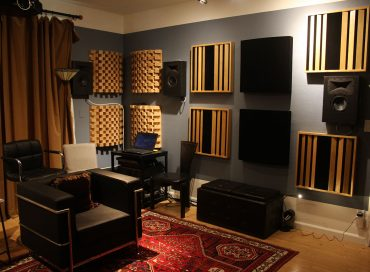A room properly equipped with absorbers and diffusers.