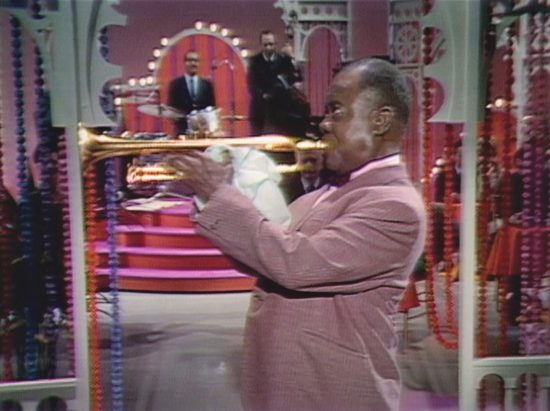 Louis Armstrong performing on the Ed Sullivan Show (Photo Courtesy of SOFA Entertainment/UMe)