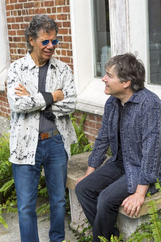 Chick Corea with Béla Fleck (Photo: C. Taylor Crothers)