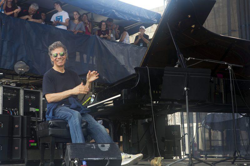 Chick Corea at the Newport Jazz Festival, July 2016 (Photo: Alan Nahigian)