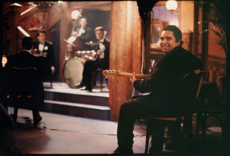 Howard Alden on the set of Sweet and Lowdown (Photo credit: Courtesy of Howard Alden)