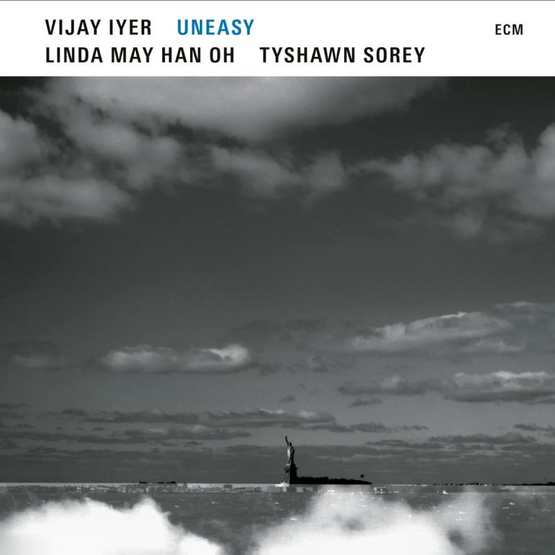 The cover of Uneasy by Vijay Iyer, Linda May Han Oh, and Tyshawn Sorey