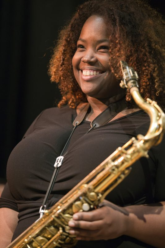 Camille Thurman at the 2019 Gotham Jazz Festival