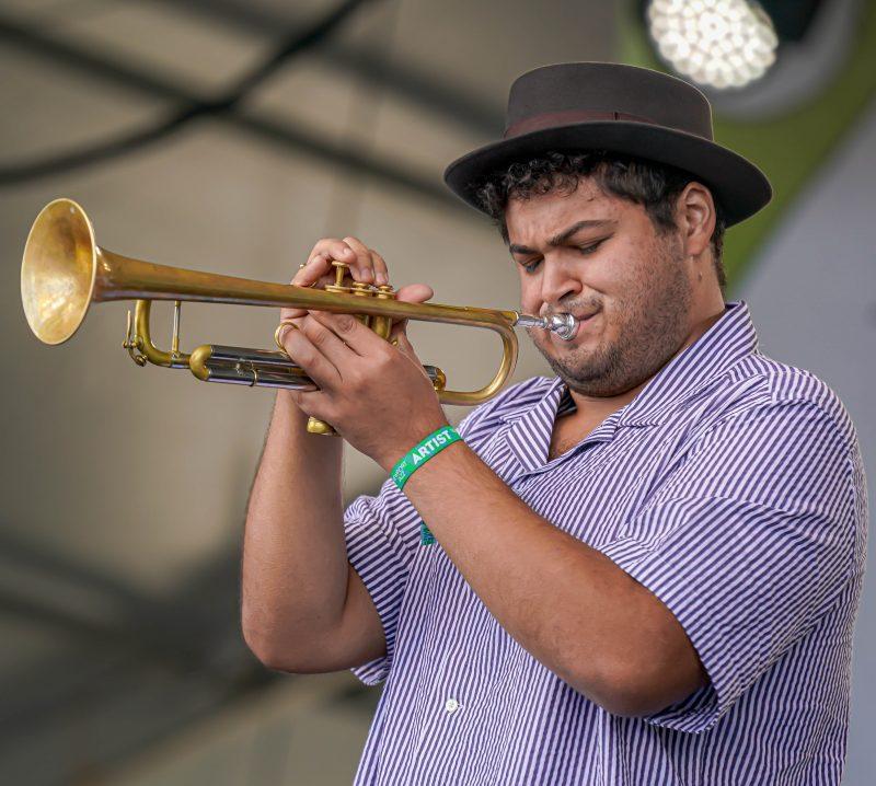 Adam O'Farrill at the 2021 Newport Jazz Festival