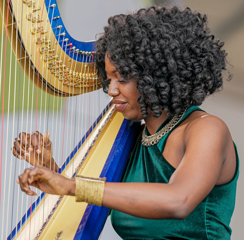 Brandee Younger at the 2021 Newport Jazz Festival
