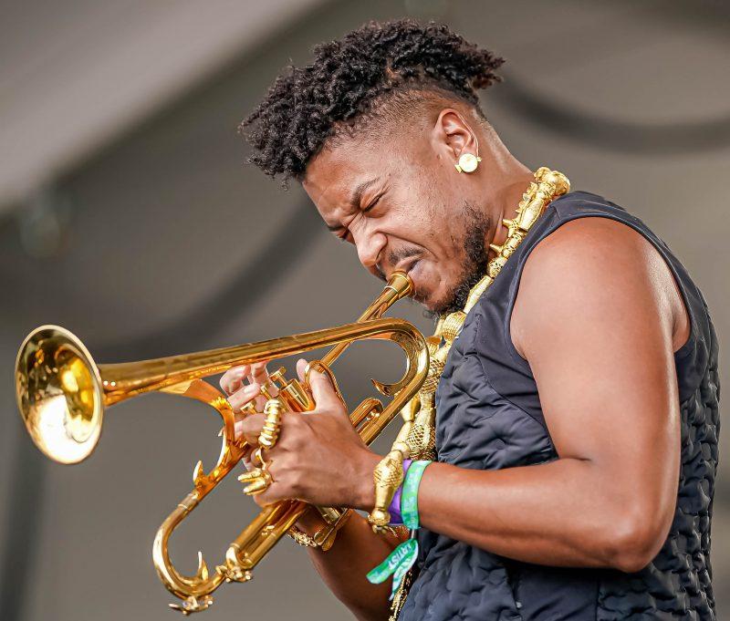 Christian Scott aTunde Adjuah at the 2021 Newport Jazz Festival