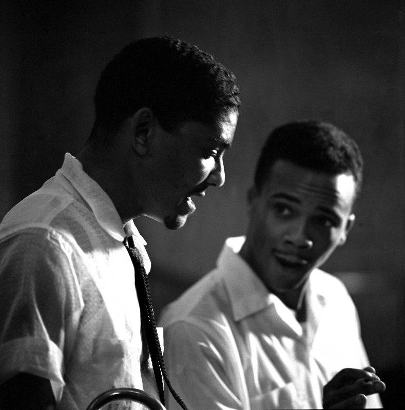 Quincy Jones (right) with Jimmy Cleveland in 1955