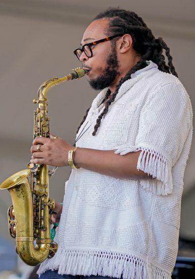 Immanuel Wilkins at the 2021 Newport Jazz Festival