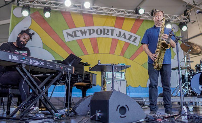 James Francies (left) and Chris Potter at the 2021 Newport Jazz Festival