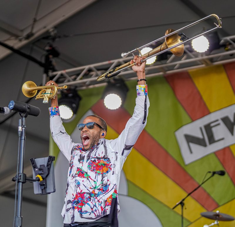 Trombone Shorty at the 2021 Newport Jazz Festival