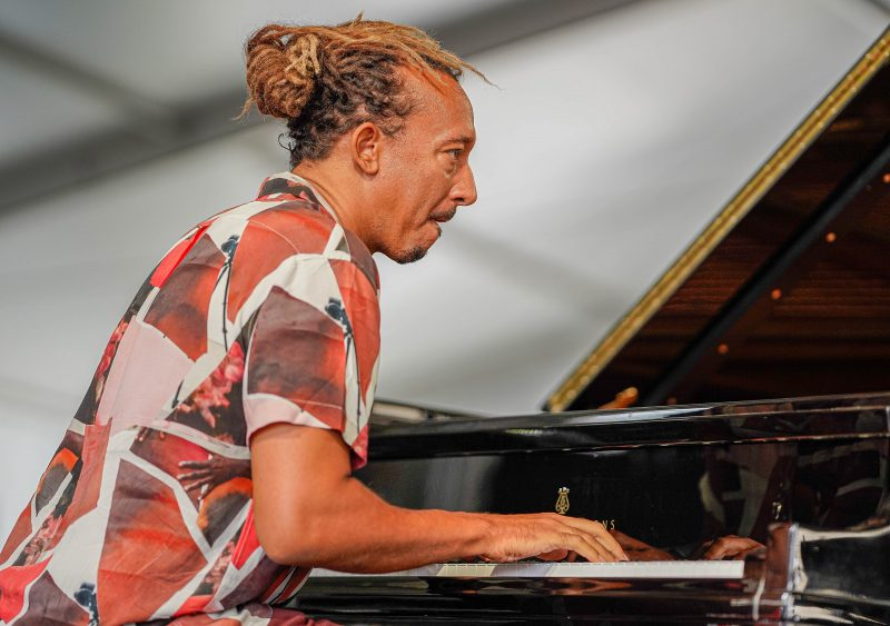 Gerald Clayton at the 2021 Newport Jazz Festival