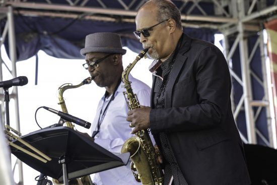 Paul Carr and Marshall Keys perform at the 2021 DC Jazz Festival (photo by Jati Lindsay)