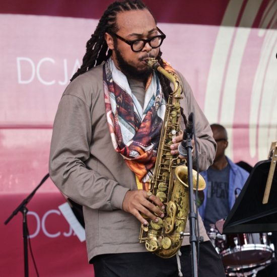Immanuel Wilkins in performance at the 2021 DC Jazz Festival (photo by Jati Lindsay)