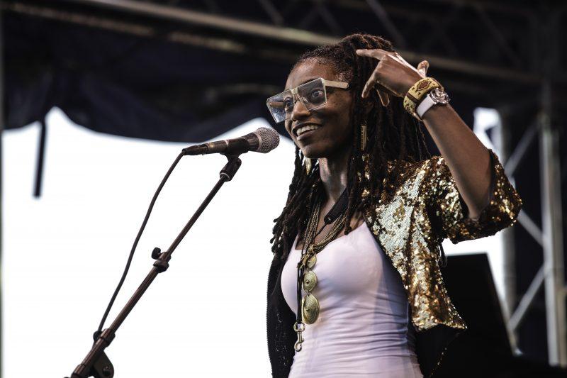 Lakecia Benjamin in performance at the 2021 DC Jazz Festival (photo by Jati Lindsay)